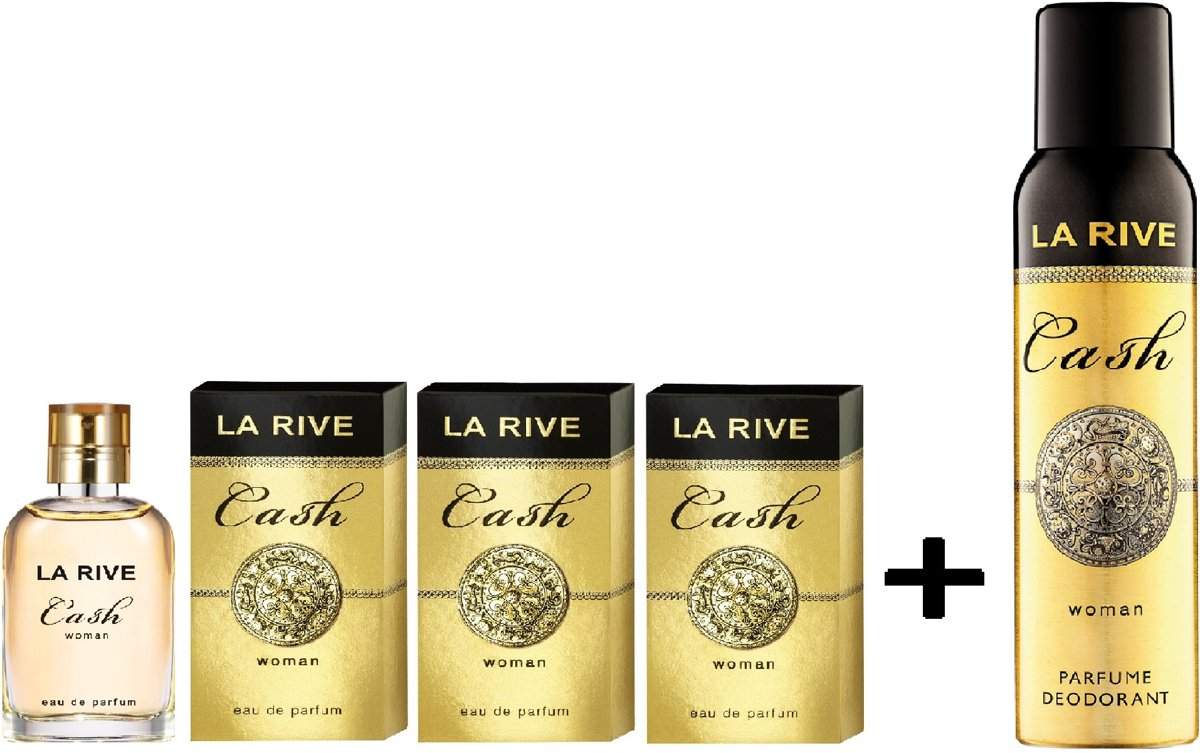 La Rive Multipack - 3x Cash Woman 30ml + Deodorant