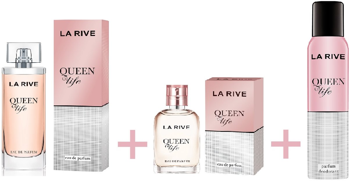 La Rive Multipack - Queen of Life 75ml + 30ml + Deodorant