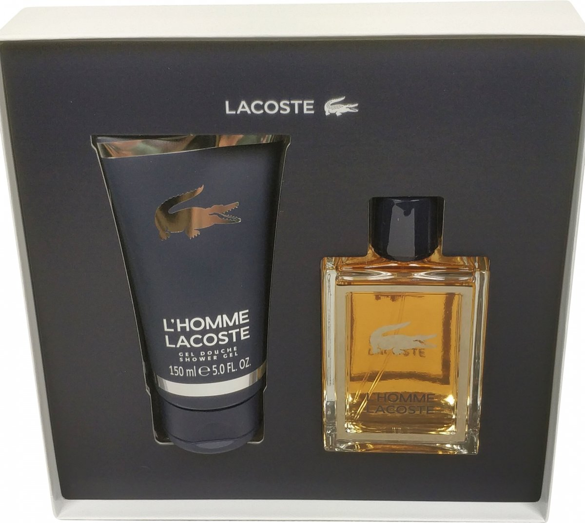 Lacoste homme edt 100 ml spray + gel 150 ml