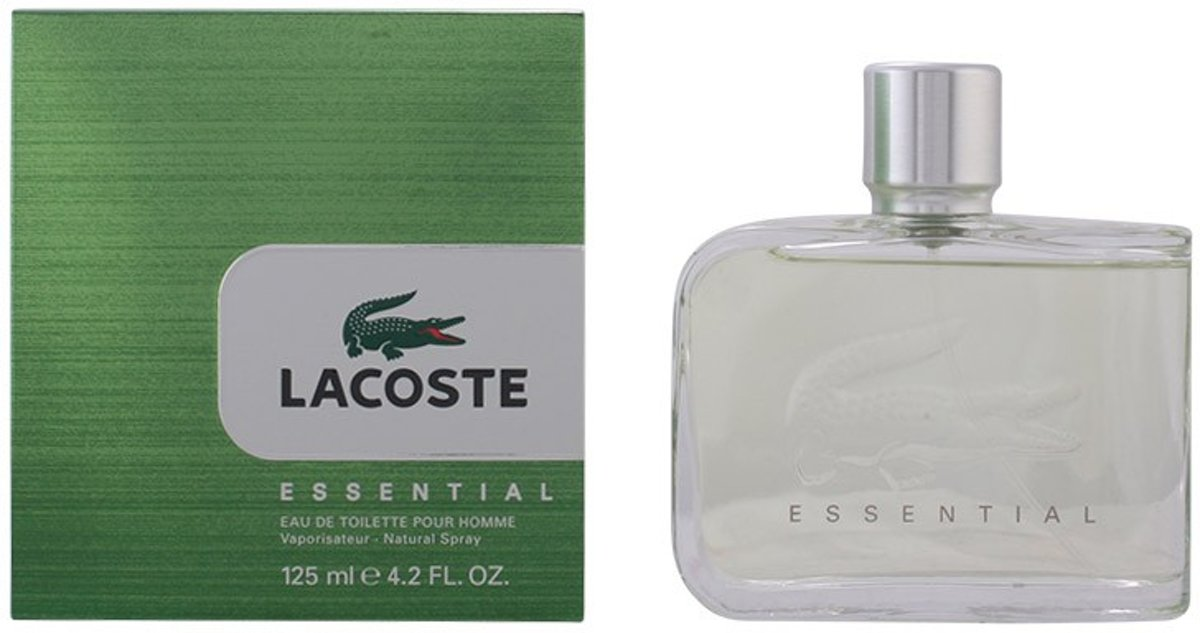 MULTI BUNDEL 2 stuks LACOSTE ESSENTIAL POUR HOMME Eau de Toilette Spray 125 ml