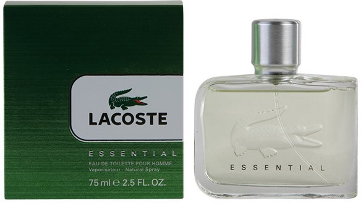 MULTI BUNDEL 2 stuks LACOSTE ESSENTIAL eau de toilette spray 75 ml