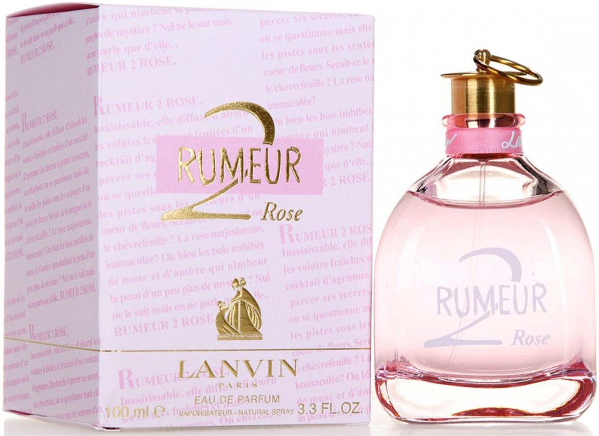 MULTI BUNDEL 2 stuks Lanvin Rumeur 2 Rose Eau De Perfume Spray 100ml