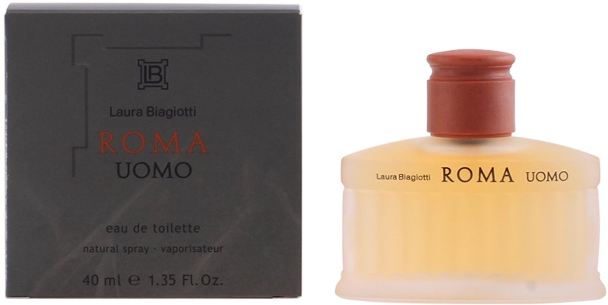 MULTI BUNDEL 2 stuks Laura Biagiotti Roma Uomo Eau De Toilette Spray 40ml