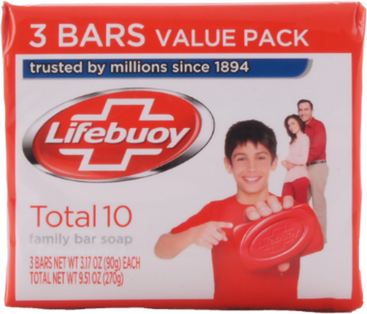 Lifebuoy Zeep Family Bar Soap - 3 x 90 gram
