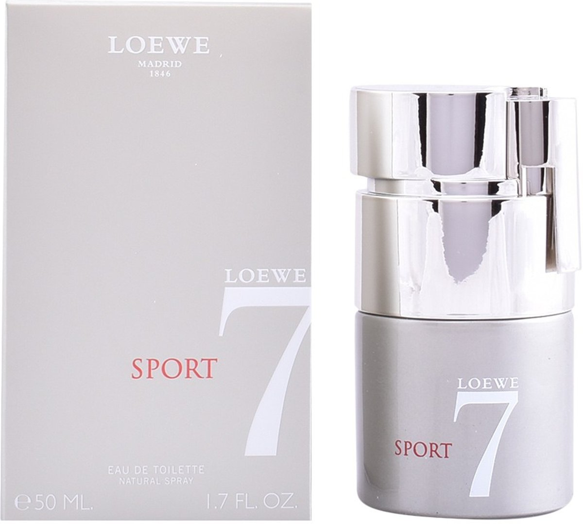 MULTI BUNDEL 2 stuks LOEWE 7 SPORT Eau de Toilette Spray 50 ml