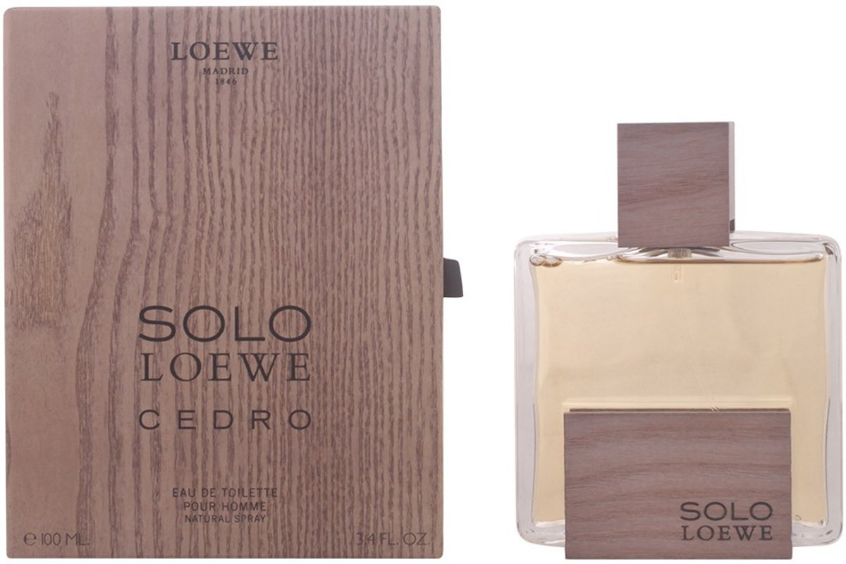 MULTI BUNDEL 2 stuks SOLO LOEWE CEDRO Eau de Toilette Spray 100 ml