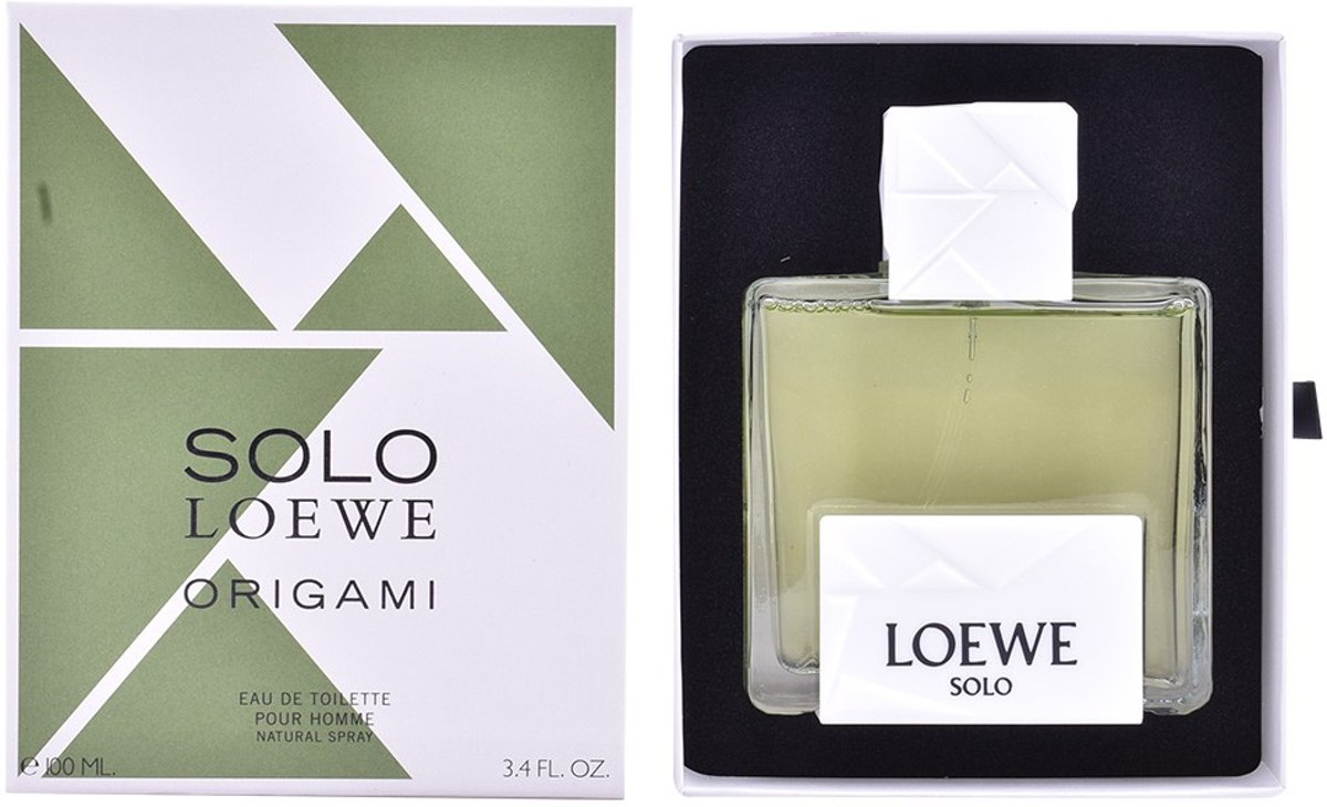 MULTI BUNDEL 2 stuks SOLO LOEWE ORIGAMI Eau de Toilette Spray 100 ml