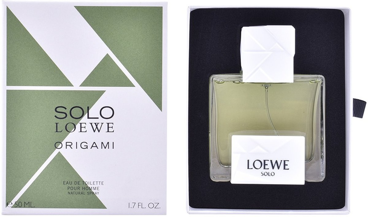 MULTI BUNDEL 2 stuks SOLO LOEWE ORIGAMI Eau de Toilette Spray 50 ml