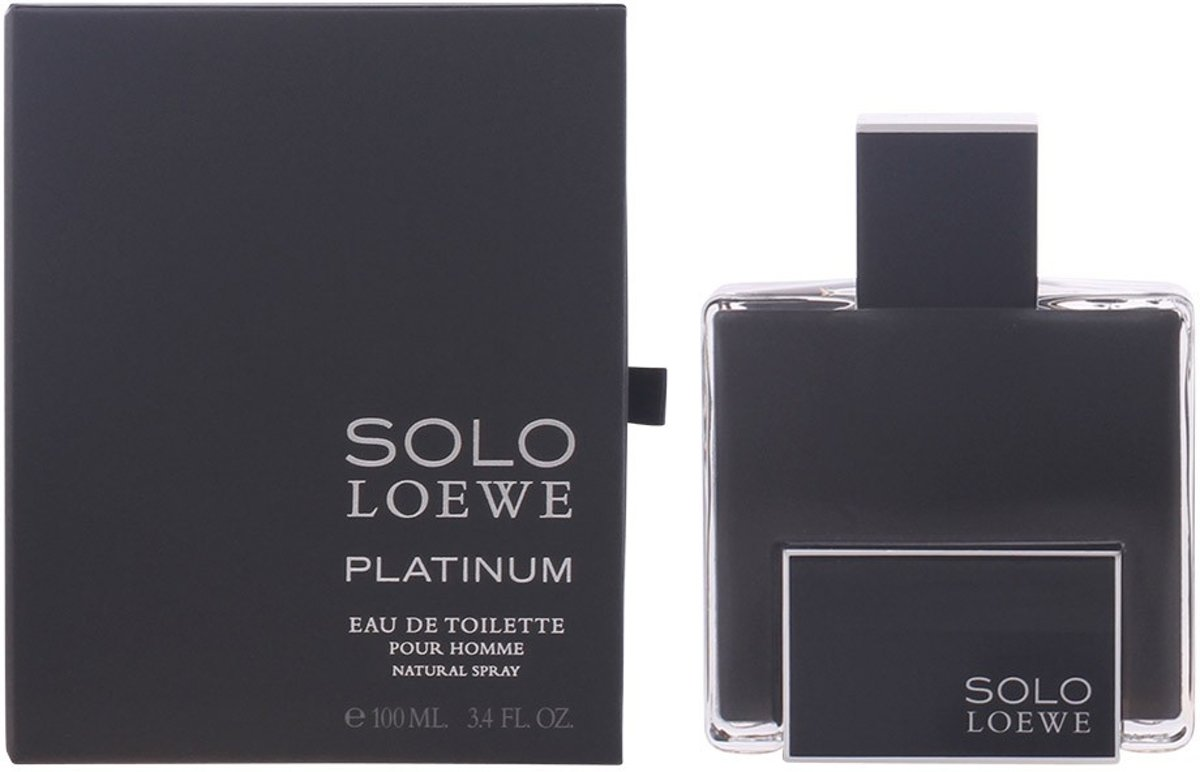 MULTI BUNDEL 2 stuks SOLO LOEWE PLATINUM Eau de Toilette Spray 100 ml