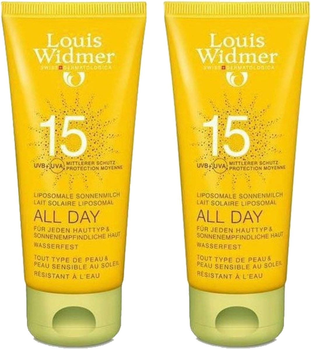 Louis Widmer All Day Duo Zonder parfum Zonnemelk 2 x 100 ml