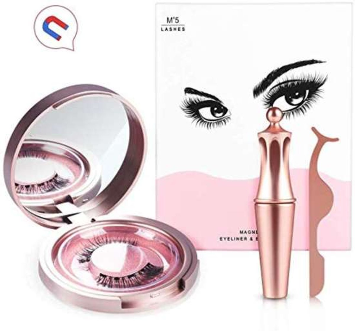Magnetische Nepwimpers met Eyeliner - Nep Wimpers Eyelashes Extension