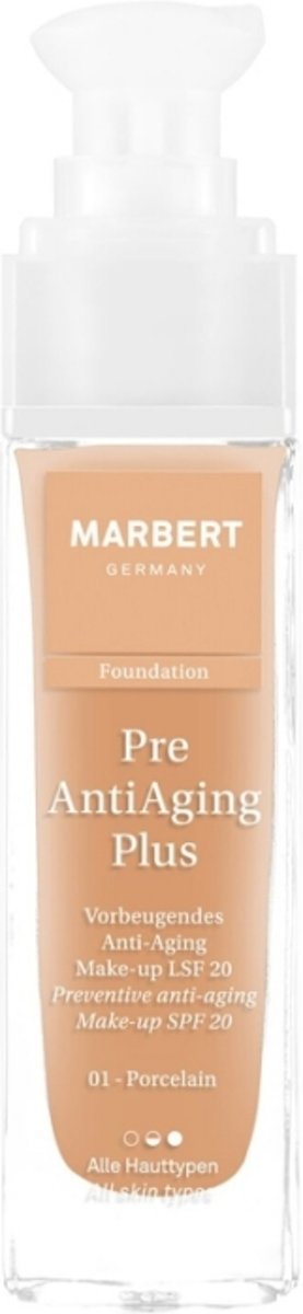 Marbert Pre Anti-Aging Plus Foundation 30 ml - 01 - Porcelain