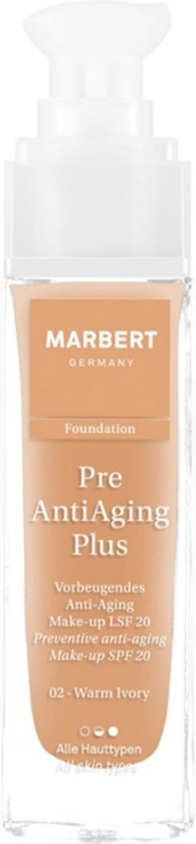 Marbert Pre Anti-Aging Plus Foundation 30 ml - 02 - Warm Ivory