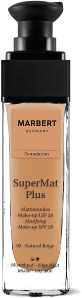 Marbert SuperMat Plus Foundation 30 ml - 02 - Natural Beige