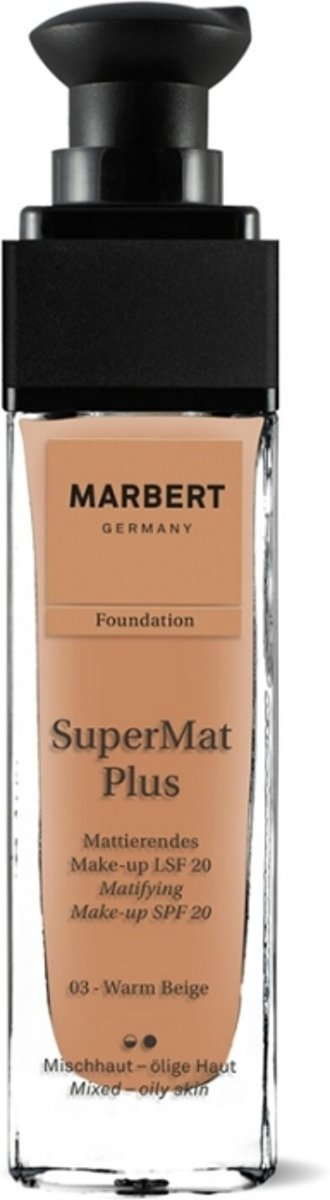 Marbert SuperMat Plus Foundation 30 ml - 03 - Warm Beige