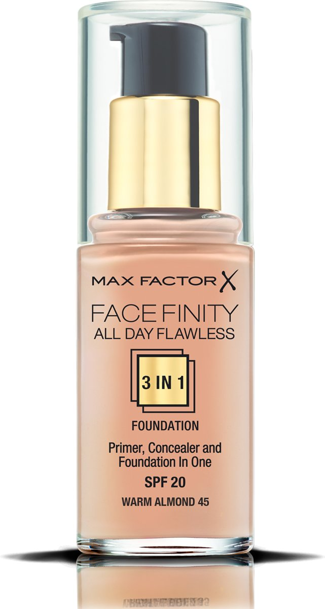 Max Factor Facefinity All Day Flawless 3-in-1 Liquid Foundation - 045 Warm Almond