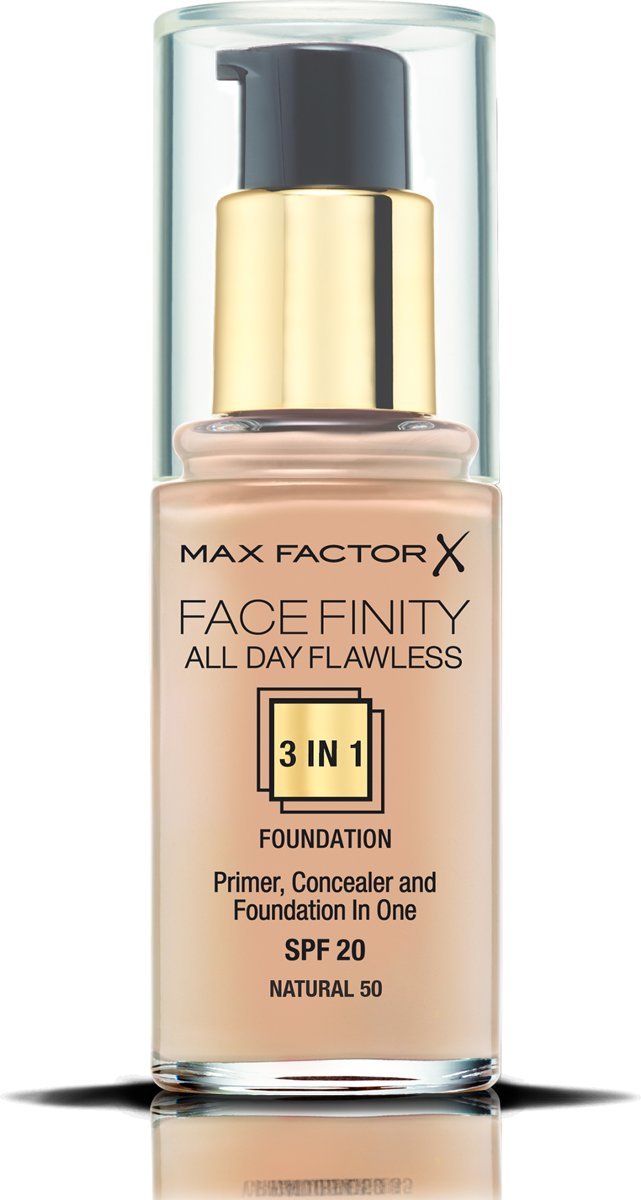 Max Factor Facefinity All Day Flawless 3-in-1 Liquid Foundation - 050 Natural