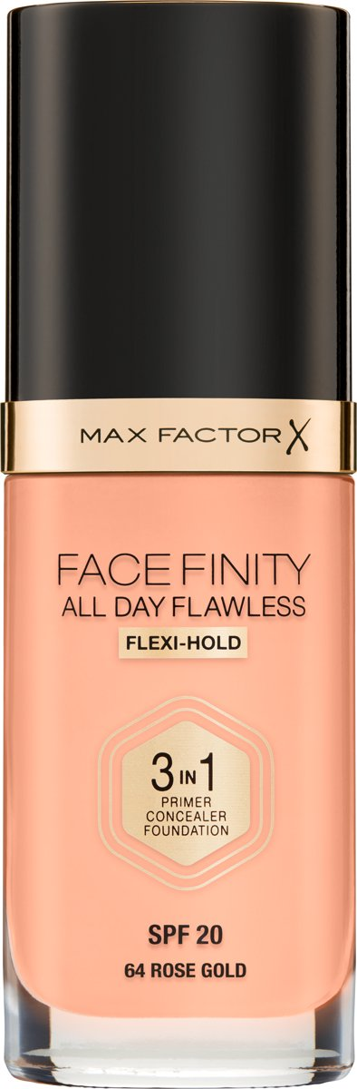 Max Factor Facefinity All Day Flawless 3-in-1 Liquid Foundation - 064 Rose Gold