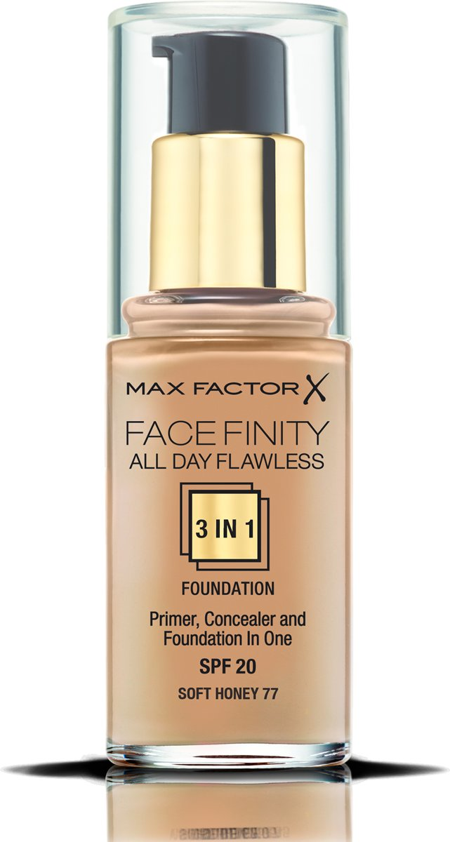 Max Factor Facefinity All Day Flawless 3-in-1 Liquid Foundation - 077 Soft Honey