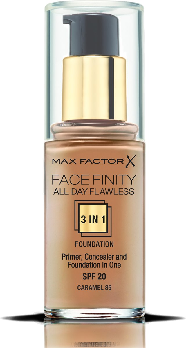 Max Factor Facefinity All Day Flawless 3-in-1 Liquid Foundation - 085 Caramel