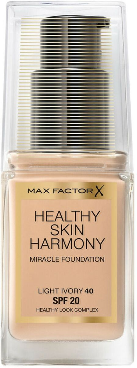 Max Factor Healthy Skin Harmony Miracle Foundation SPF20 30ML - 40 Light Ivory
