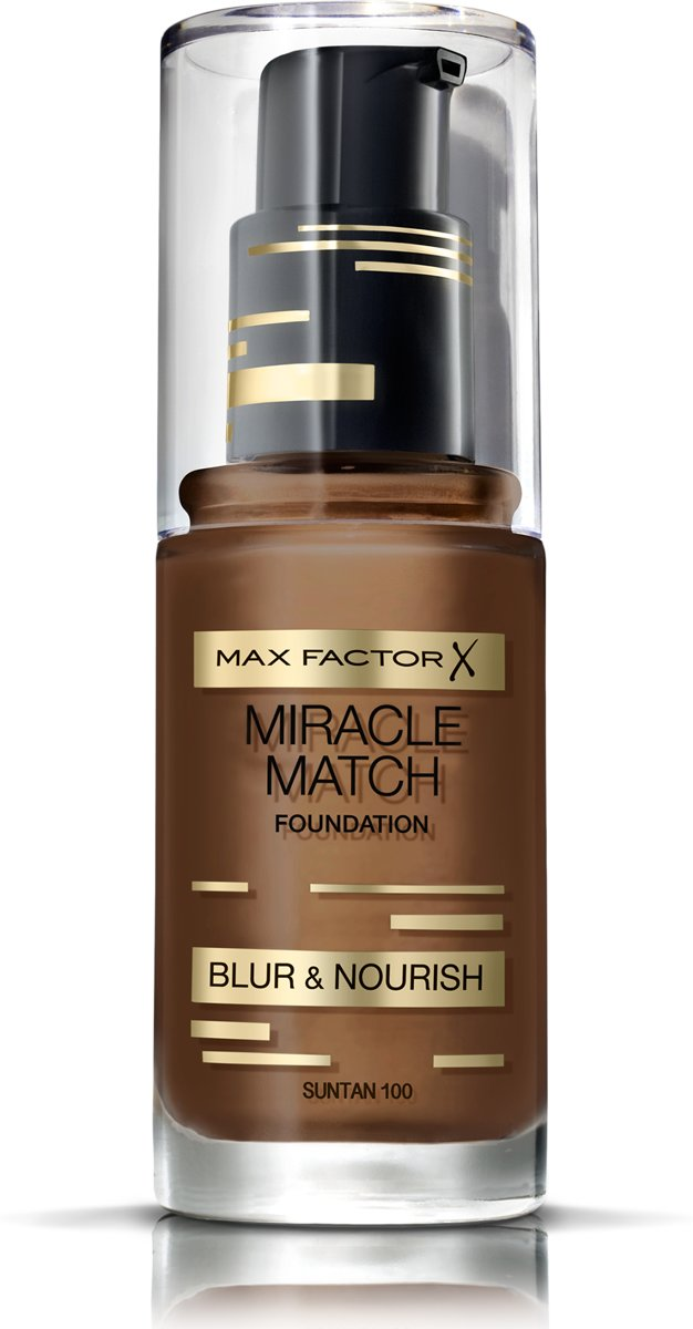 Max Factor Miracle Match Blur & Nour - 100 Sun Tan - Foundation
