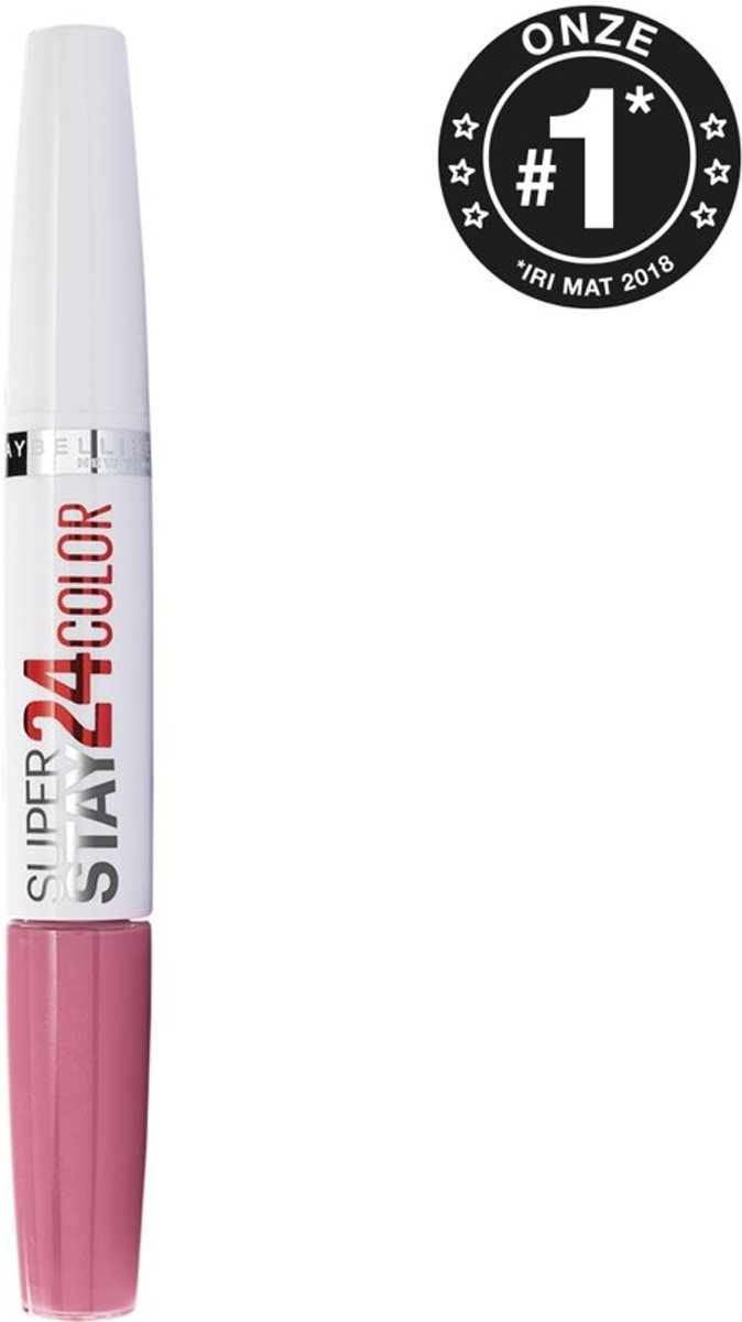 3x Maybelline SuperStay 24H - 130 Pinking of you - Roze - Lippenstift - Voordeelverpakking