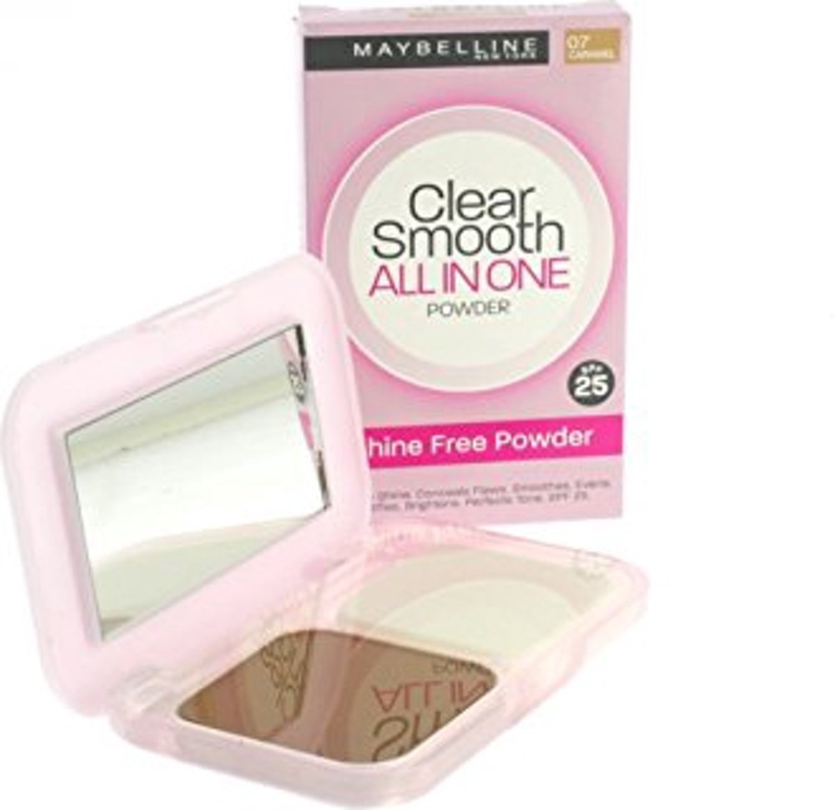 Maybeline, clear smooth - all in one powder - 07 caramel - spf 25