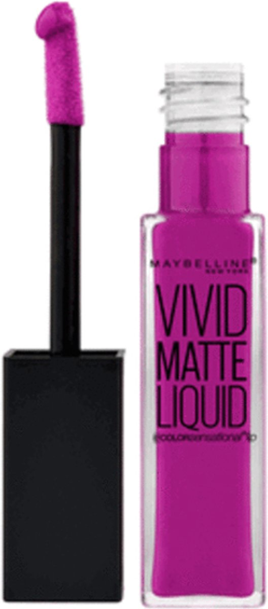 Maybelline Color Sensational Vivid Matte Liquid Lipgloss - 42 Orchid Shock