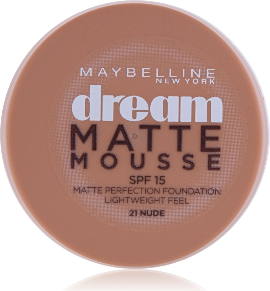 Maybelline Dream Matte Mousse 21 Nude/Beige Doré Pot Crème foundationmake-up