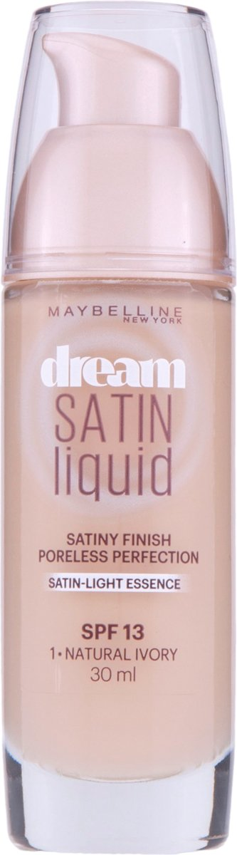 Maybelline Dream Satin Satin Liquid - 1 Natural Ivory - Foundation