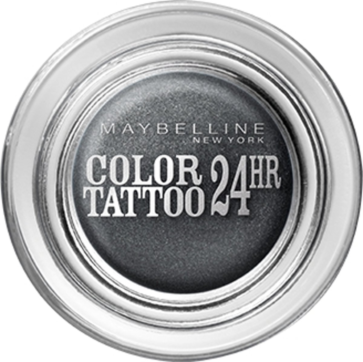 Maybelline Eye Studio Color Tatto 55 Immortal Charcoal oogschaduw Black Shimmer