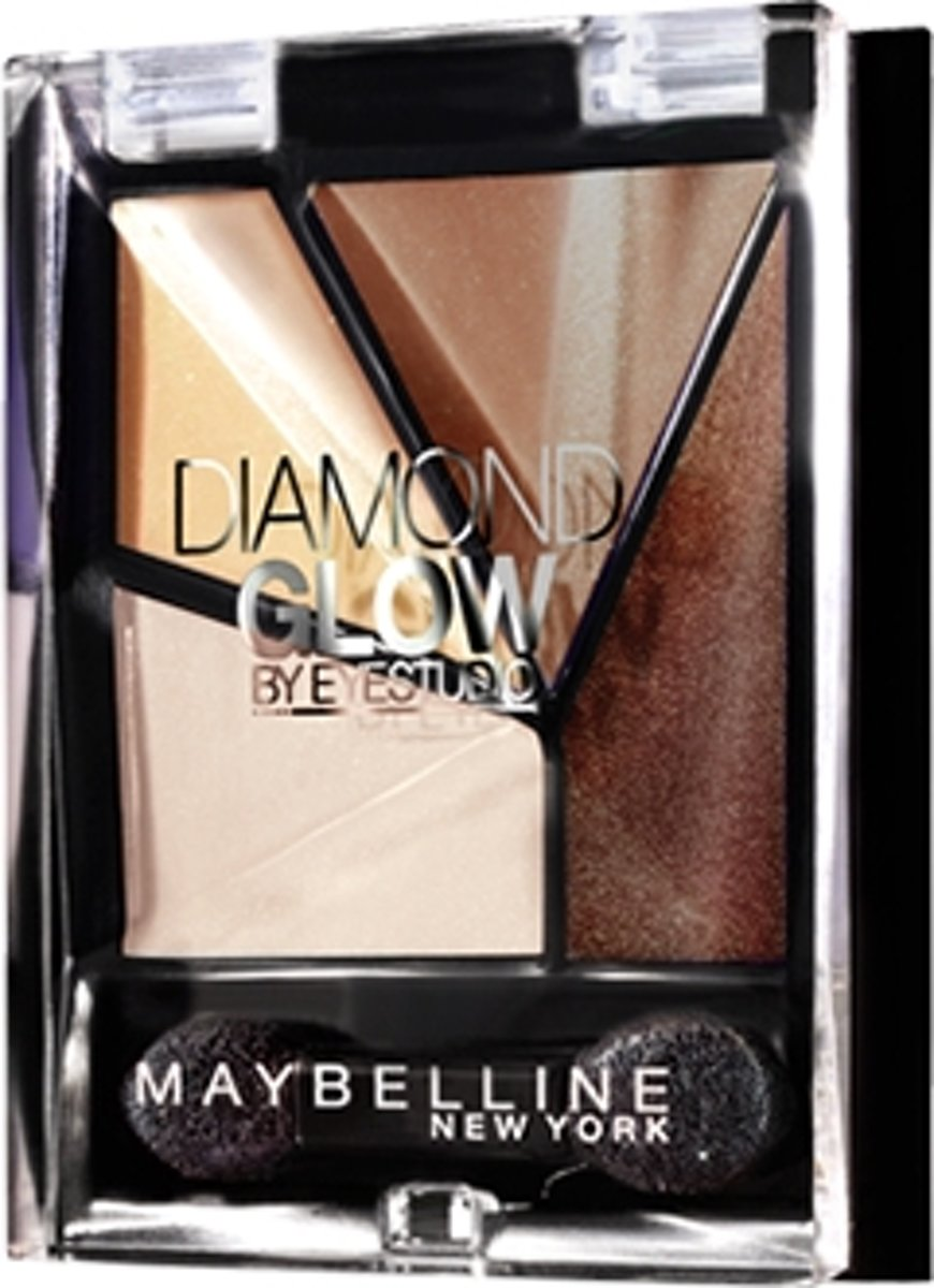 Maybelline Eye Studio Quad Diamond Glow Coffee Drama 6 oogschaduw Bruin Shimmer