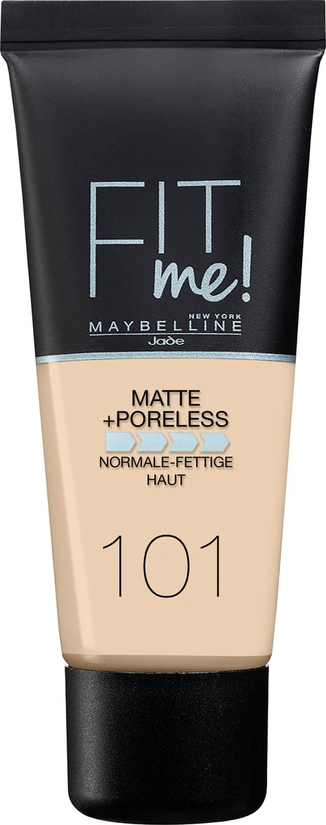 Maybelline Fit Me Matte & Poreless Foundation - 101 True Ivory - Matterende Foundation - 30 ml