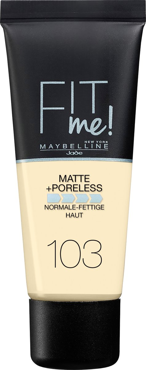 Maybelline Fit Me Matte & Poreless Foundation - 103 Pure Ivory - Matterende Foundation - 30 ml