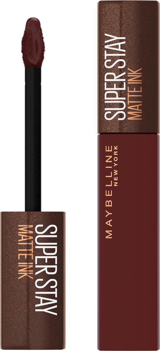 Maybelline SuperStay Matte Ink Lipstick Coffee Collection Limited Edition - 275 Mocha Inventor - Bruine Lippenstift - 5 ml