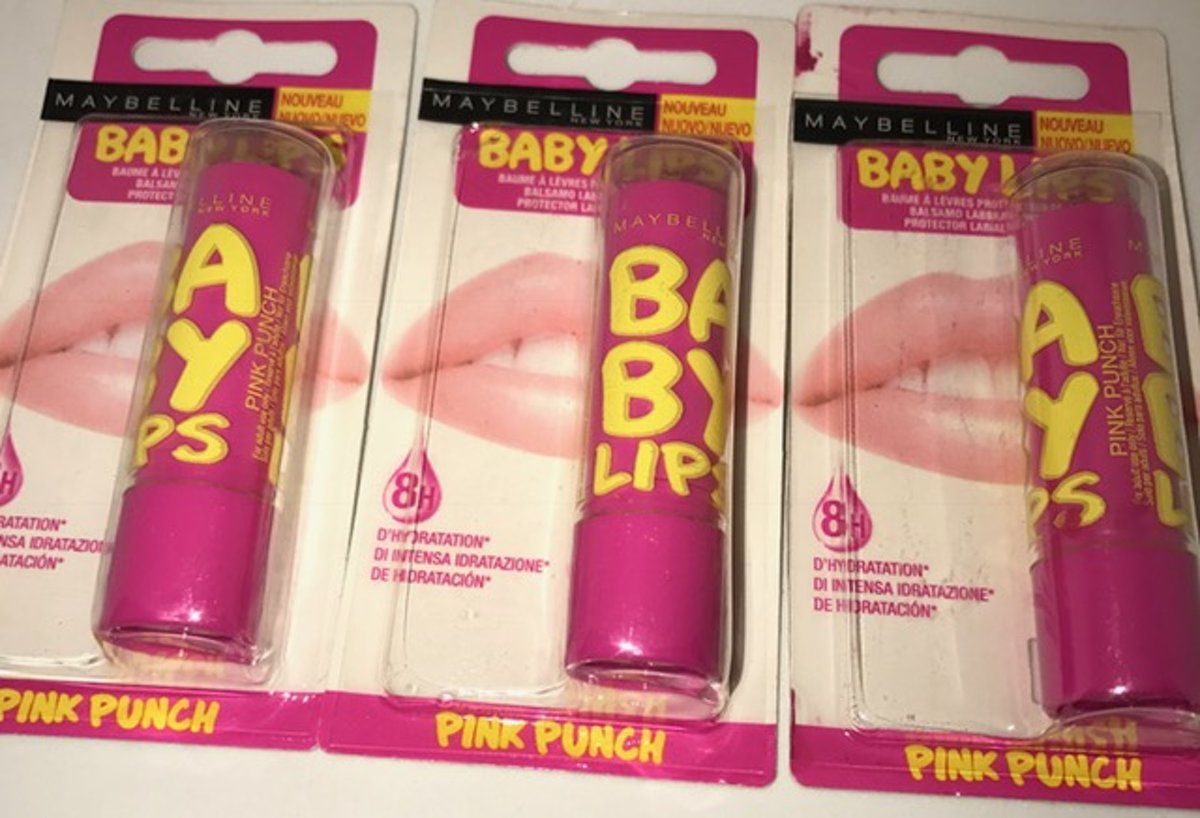 baby lips pink puch