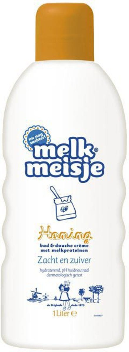 Melkmeisje Honing - 1000 ml - Bad- & Doucheschuim