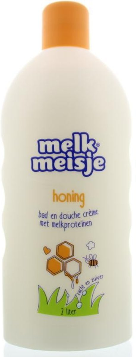 Melkmeisje Honing - 2000 ml - Bad- & Doucheschuim