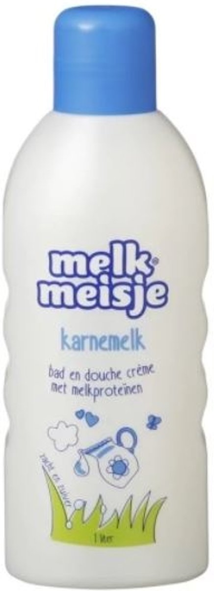 Melkmeisje Karnemelk - 1000 ml - Bad- & Doucheschuim