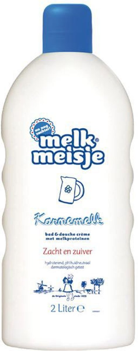 Melkmeisje Karnemelk - 2000 ml - Bad- & Doucheschuim