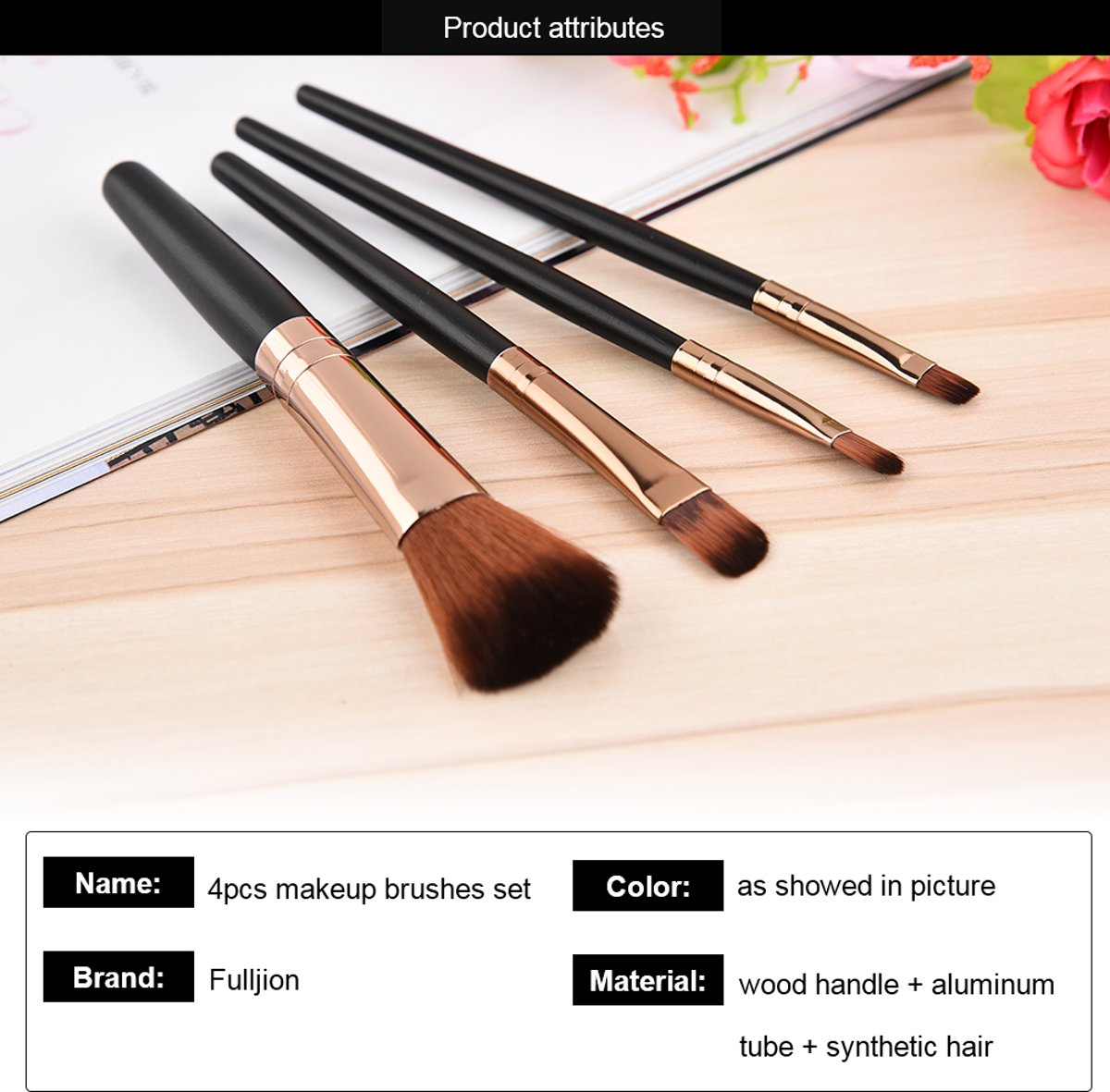 4 delige professionele Make- Up kwasten set