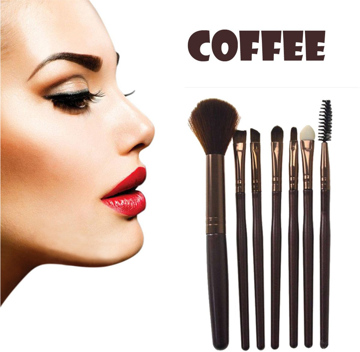 7 delig Make up set / Kwastenset / Kwasten / Brush / Wenkbrouwen