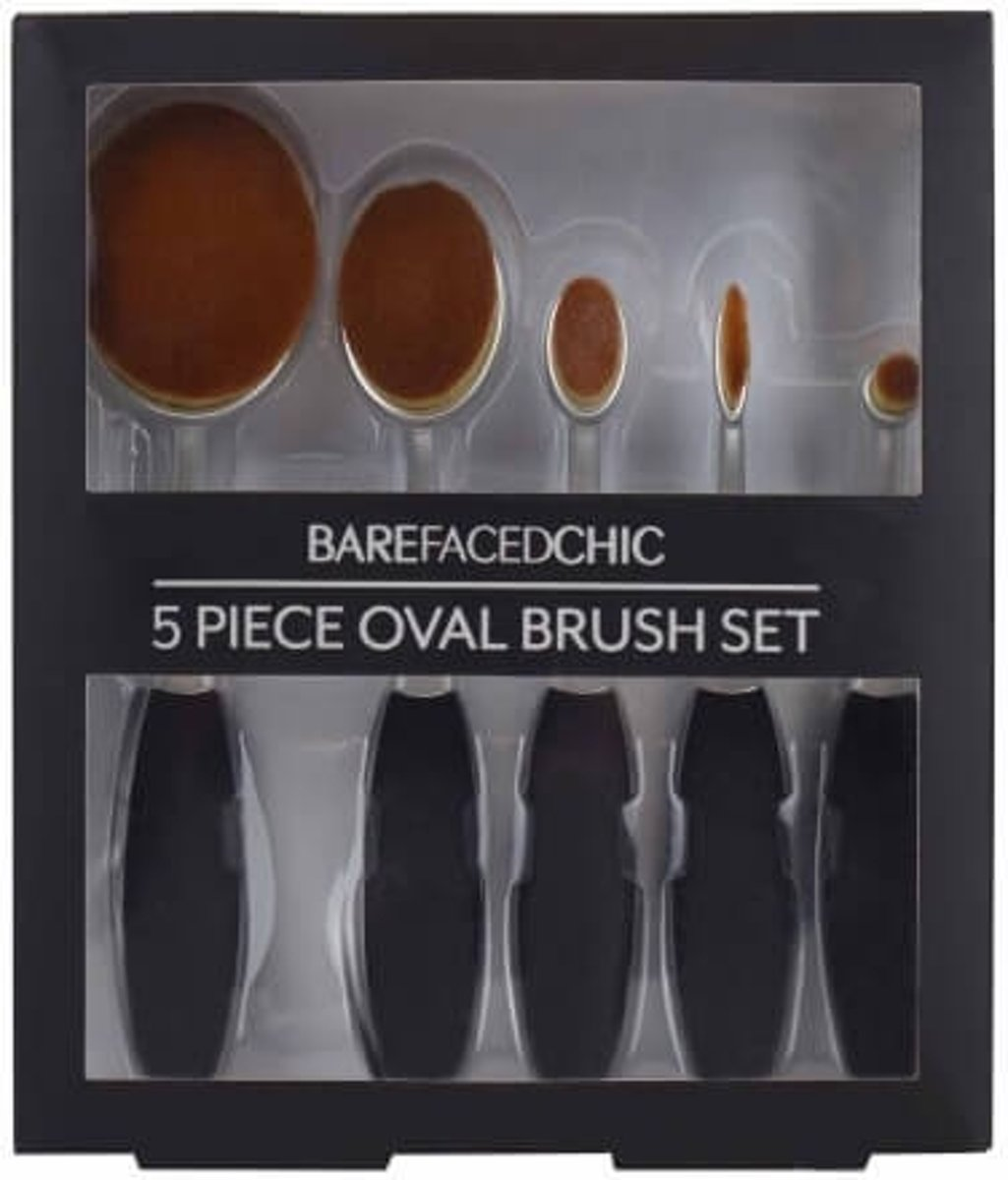 BareFacedChic 5-delige Oval Brush Set