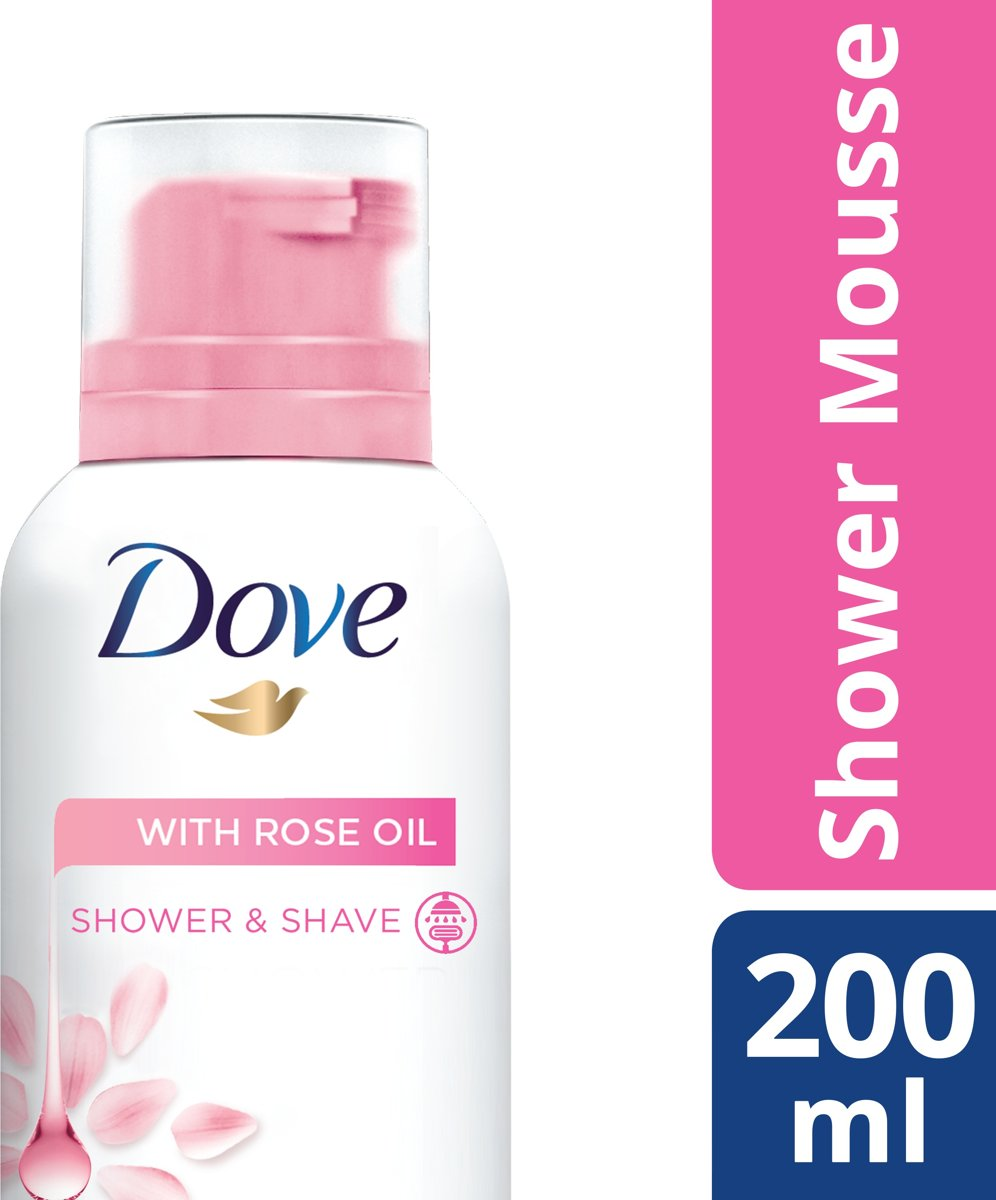 Dove Rose Oil - 200 ml - Shower Mousse