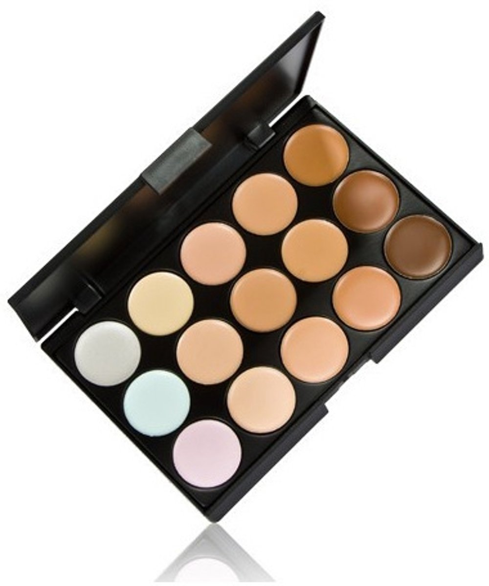 Natural Camouflage Make Up Wenkbrauw Poeder Palette Set - 15 kleuren