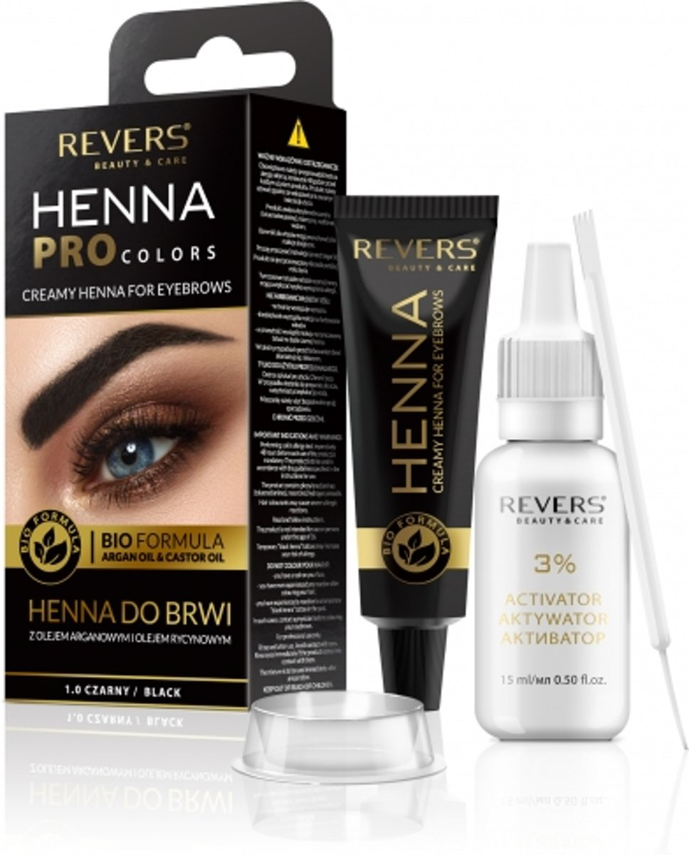 REVERS® Eyebrow Henna Pro Colours Black 15ml.+15ml ...