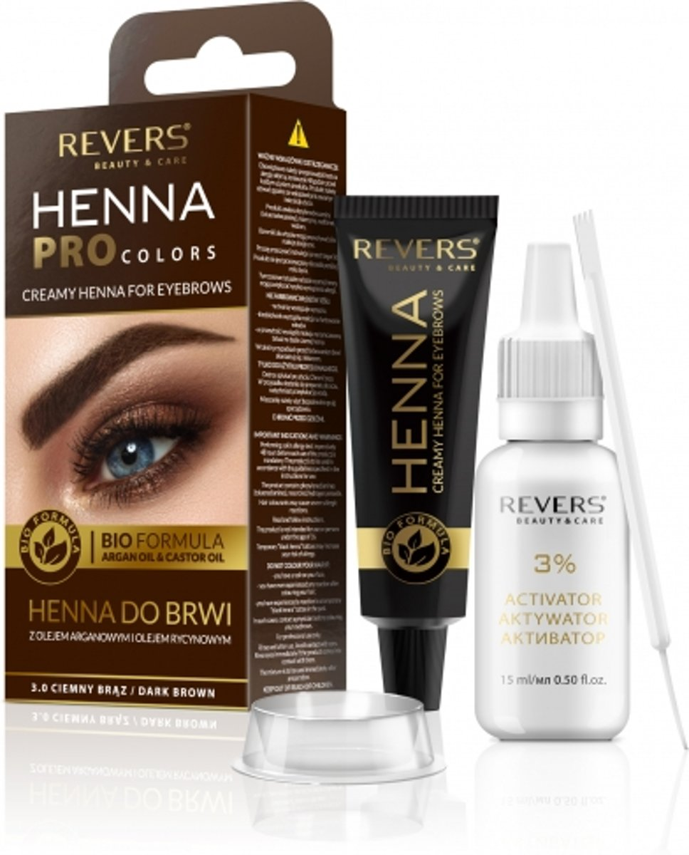 REVERS® Eyebrow Henna Pro Colours Dark Brown 15ml.+15ml ...