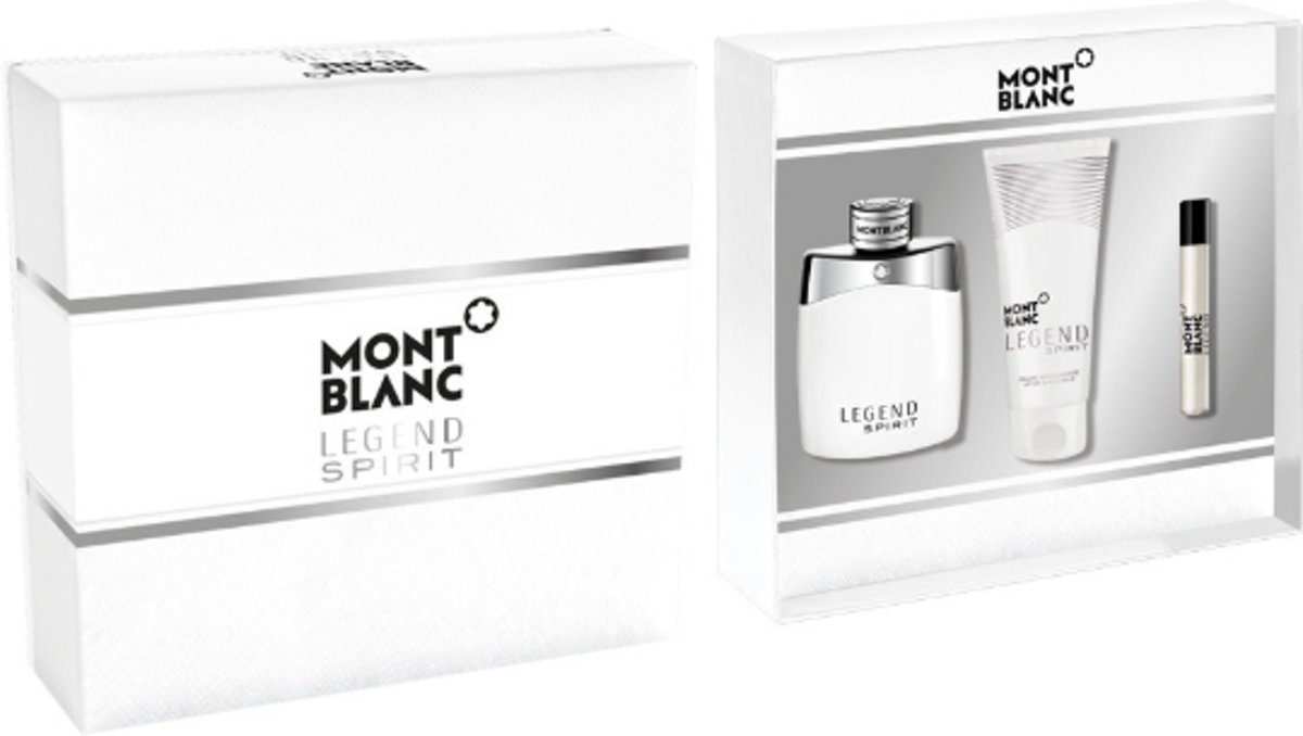 Mont Blanc Legend Spirit Set eau de toilette spray 100 ml + 7.5 ml edt spray + 100 ml after shave balm