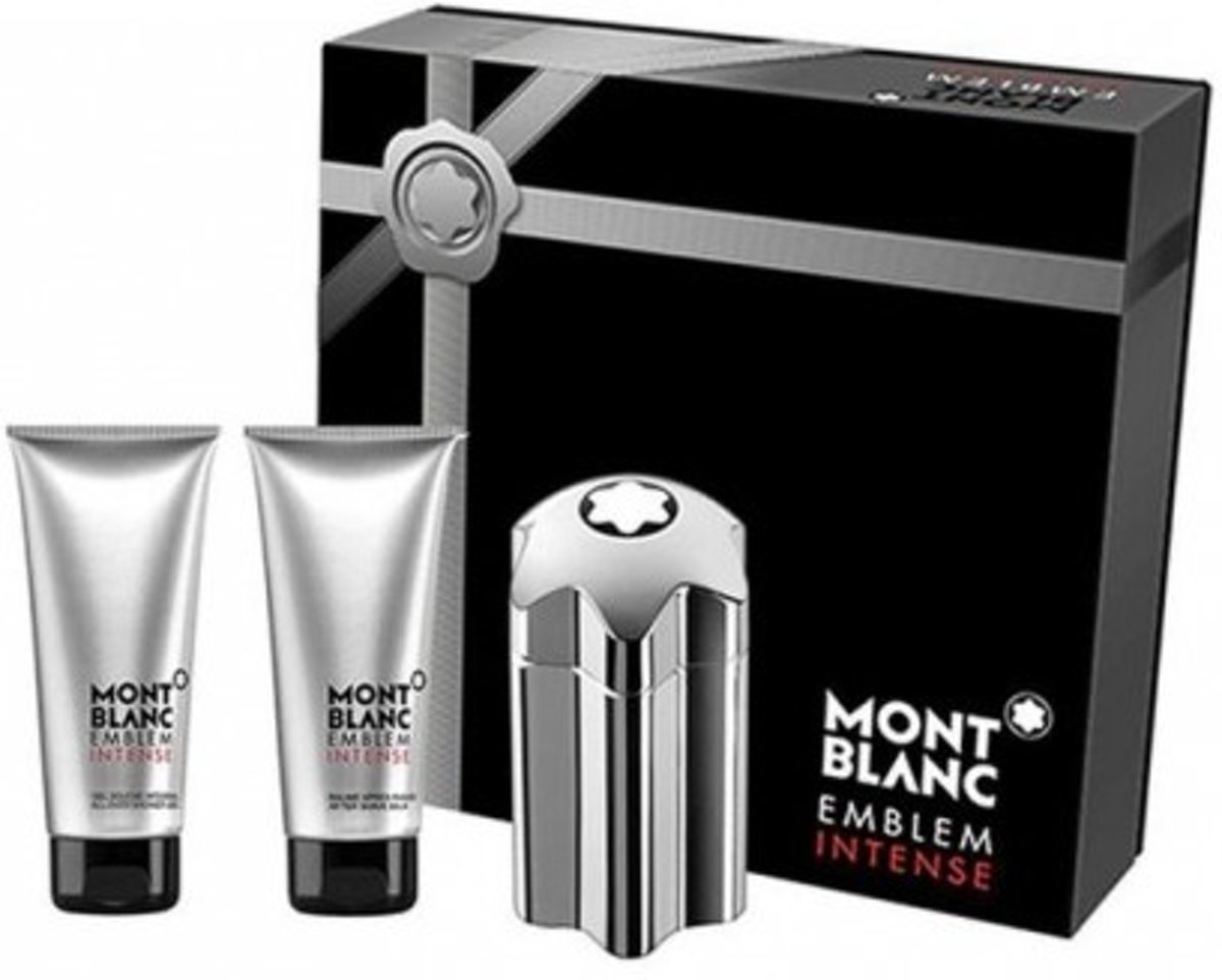 Mont Blanc Montblanc Emblem Intense -- - Gift Set 100 ml Eau De Toilette Spray + 100 ml After Shave Balm + 100 ml Shower Gel Men